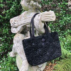 Handbags - Black fuzzy purse